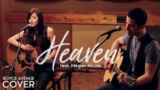 Gambar cover Heaven - Bryan Adams (Boyce Avenue feat. Megan Nicole acoustic cover) on Spotify & Apple