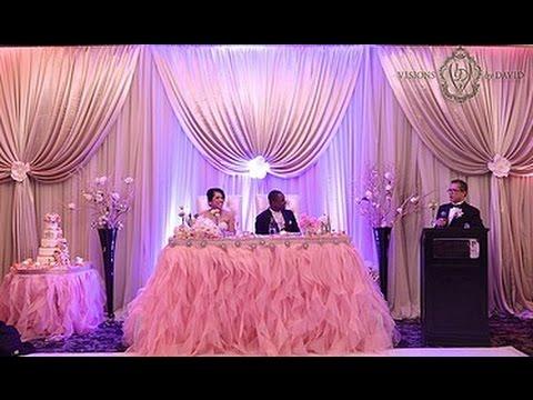 Wedding Dinner Backdrop Decoration Youtube