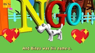 Bingo song with lyrics – nursery rhymes | B I N G O song