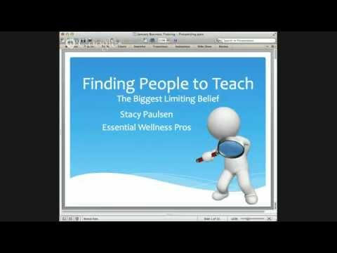 Online Business Training - Finding People to Talk To about Essential Oils