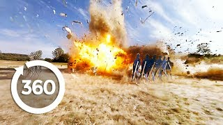 Blowing Up a Postal Van | MythBusters (360 Video)