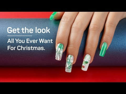How to Do Easy Simple Christmas Nails with Dipping Powder - Christmas Nail Art Design Ideas