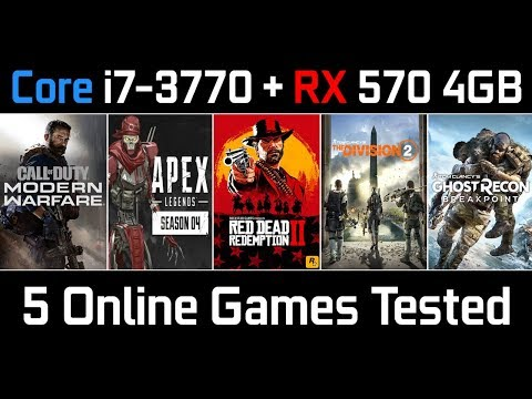 Top 5 Online Games Test | Core I7 3770 + RX 570 4GB | High Settings 1080p | 2020