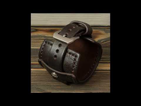 Katunoff широкий кожаный ремешок для часов