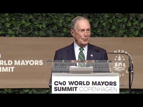 Mike Bloomberg at 2019 C40 World Mayors Summit