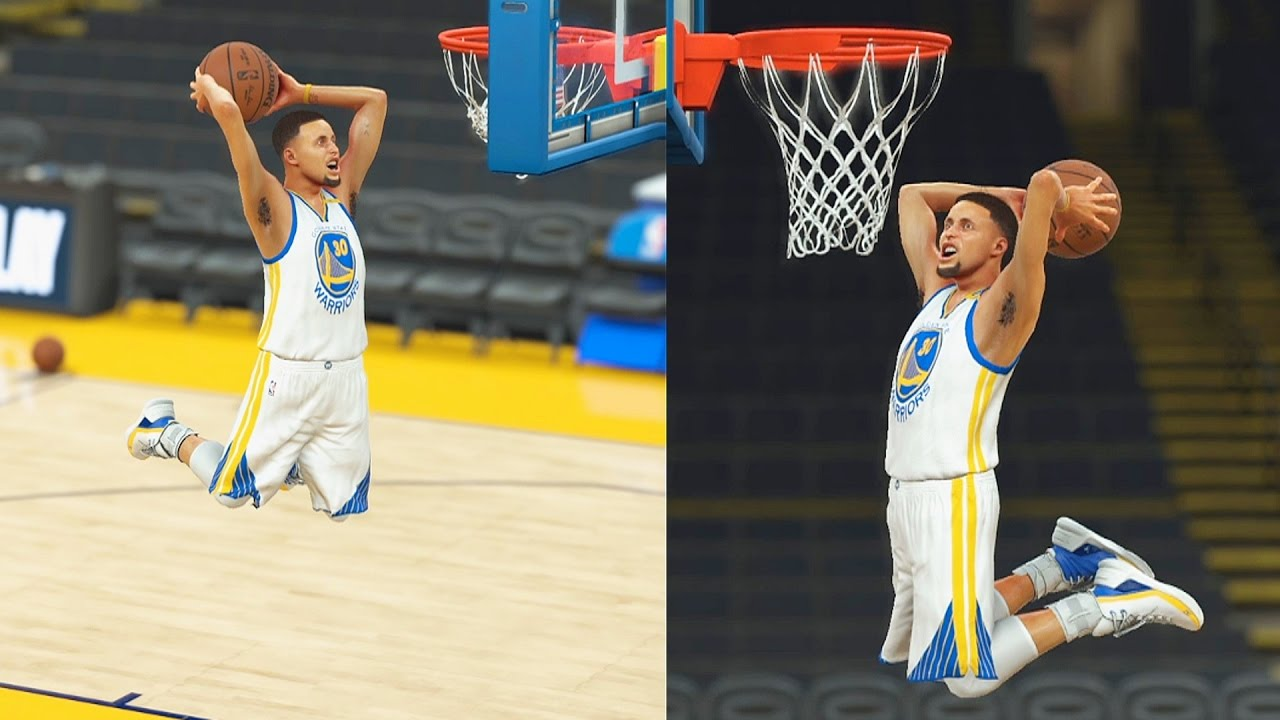 Can Midget Stephen Curry Beat Stephen Curry In A Dunk Contest Nba 2k17 Midget Steph Curry Gameplay