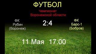 Рубин (Воронеж)  2:4  Барс-1 (Бобров)
