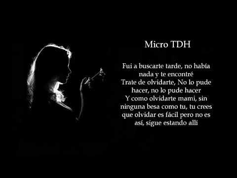 Micro TDH - No Te Dejé Sola [Letra]