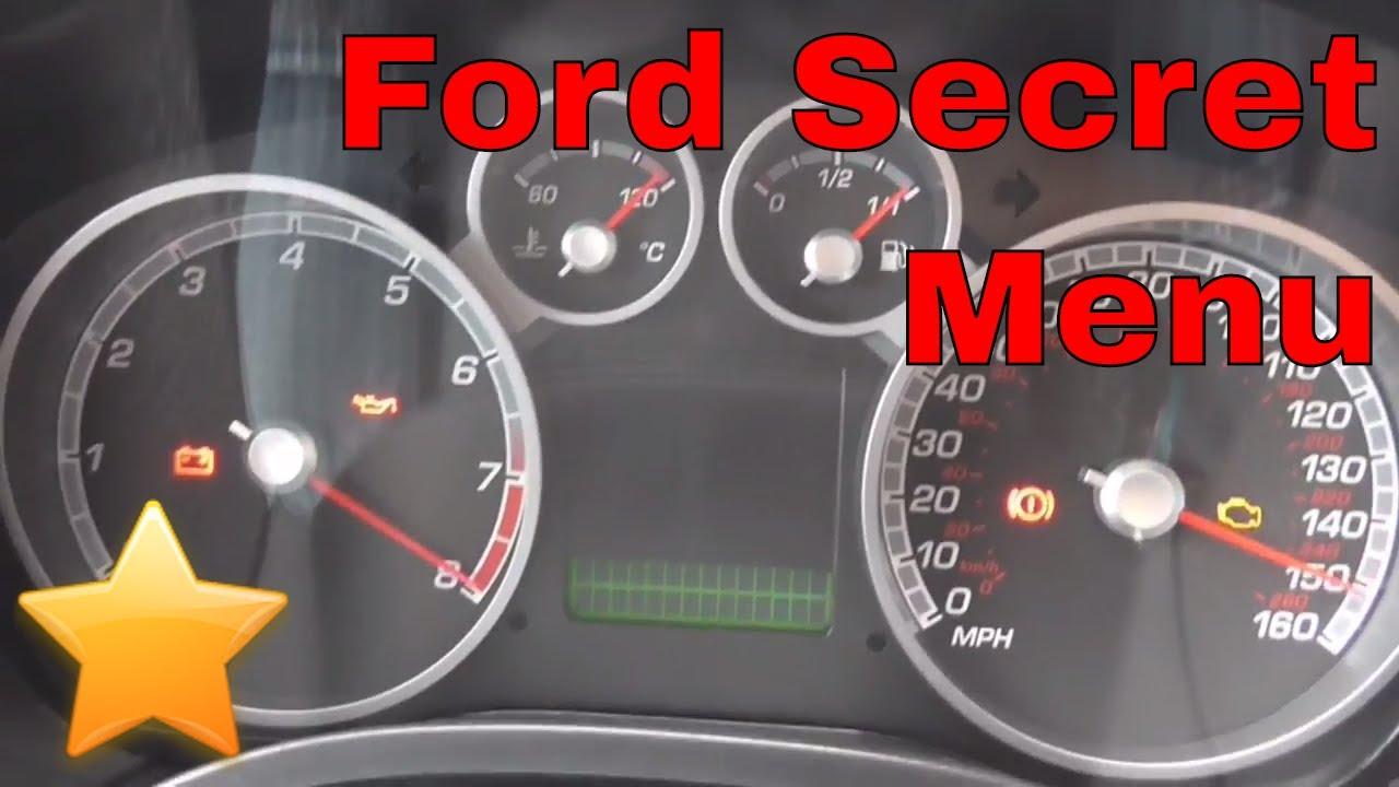 How To Enter The Ford Secret Diagnostic Menu Project Focus St
