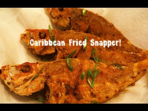 Caribbean Fried Snapper (fish).