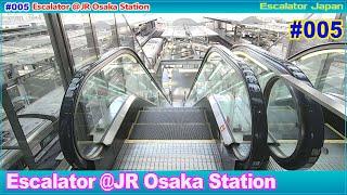 [4K]エスカレーター JR大阪駅/JR Osaka Station Escalator Japan [Recording with Binaural Microphone]No.005