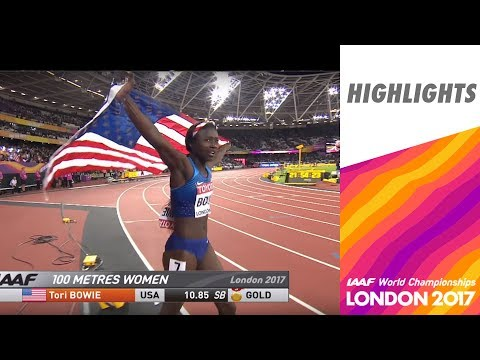 WCH London 2017 Highlights - 100m - Women - Final - Tori Bowie wins