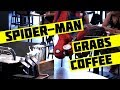 Spider-Man Grabs Coffee