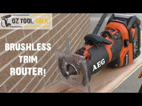AEG Cordless Trim Router - BOF18 - 18V Brushless Laminate Trimmer (Ridgid)