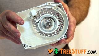 How To Assemble A Recoil Starter System  TreeStuff.com Chainsaw Maintenance Video