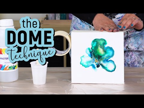 Acrylic pouring finish - the DOME Technique - Resin pour beginner