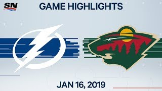 NHL Highlights | Lightning vs. Wild – Jan. 16, 2020