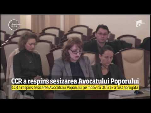 Curtea Constituţională a respins sesizarea Avocatului Poporului pe motiv că Ordonanţa 13 a fost