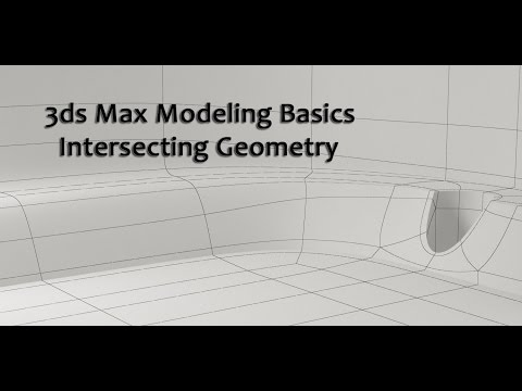 3ds Max Basic Modeling Intersecting Geometry