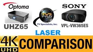 Optoma UHZ65 4K DLP Laser Projector vs Sony VPL-VW365ES True 4K SXRD Projector