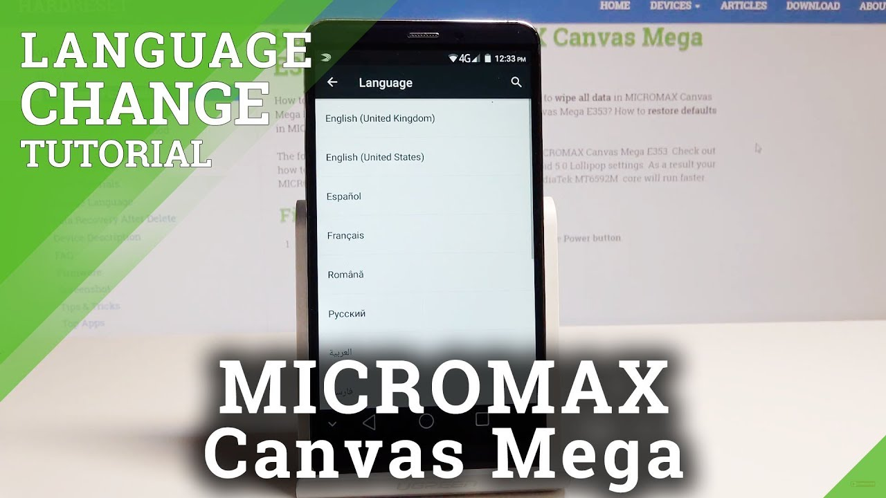 How to Change Language in MICROMAX Canvas Mega – List of Languages