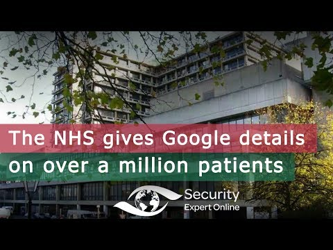 The NHS gives Google details on over a million patients