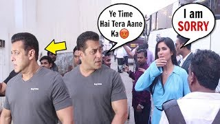 Salman Khan Gets ANGRY & IGNORES Katrina Kaif For Coming Late For Bharat Promotion