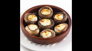 Грибы с сулугуни в кеци | Mushrooms Stuffed with Sulguni Cheese