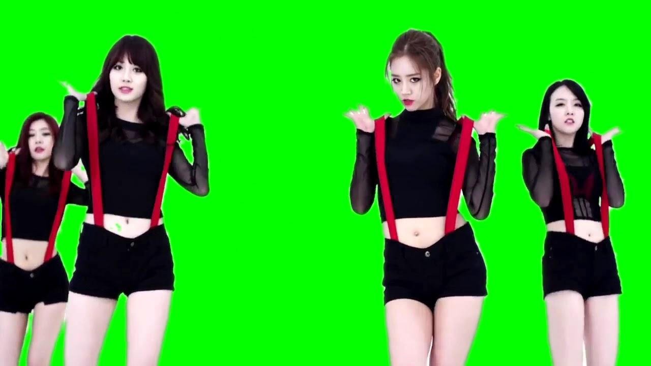 Танец кореянок футаж хромакей  Koreans girls green screen [MV] GIRL'S DAY(걸스데이)_Expect(기대해