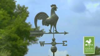 Gd501v1 Rooster Weathervane Blue Verde