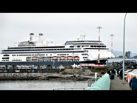 Victoria BC Cruise Port at Ogden Point & Holland Park (4K)