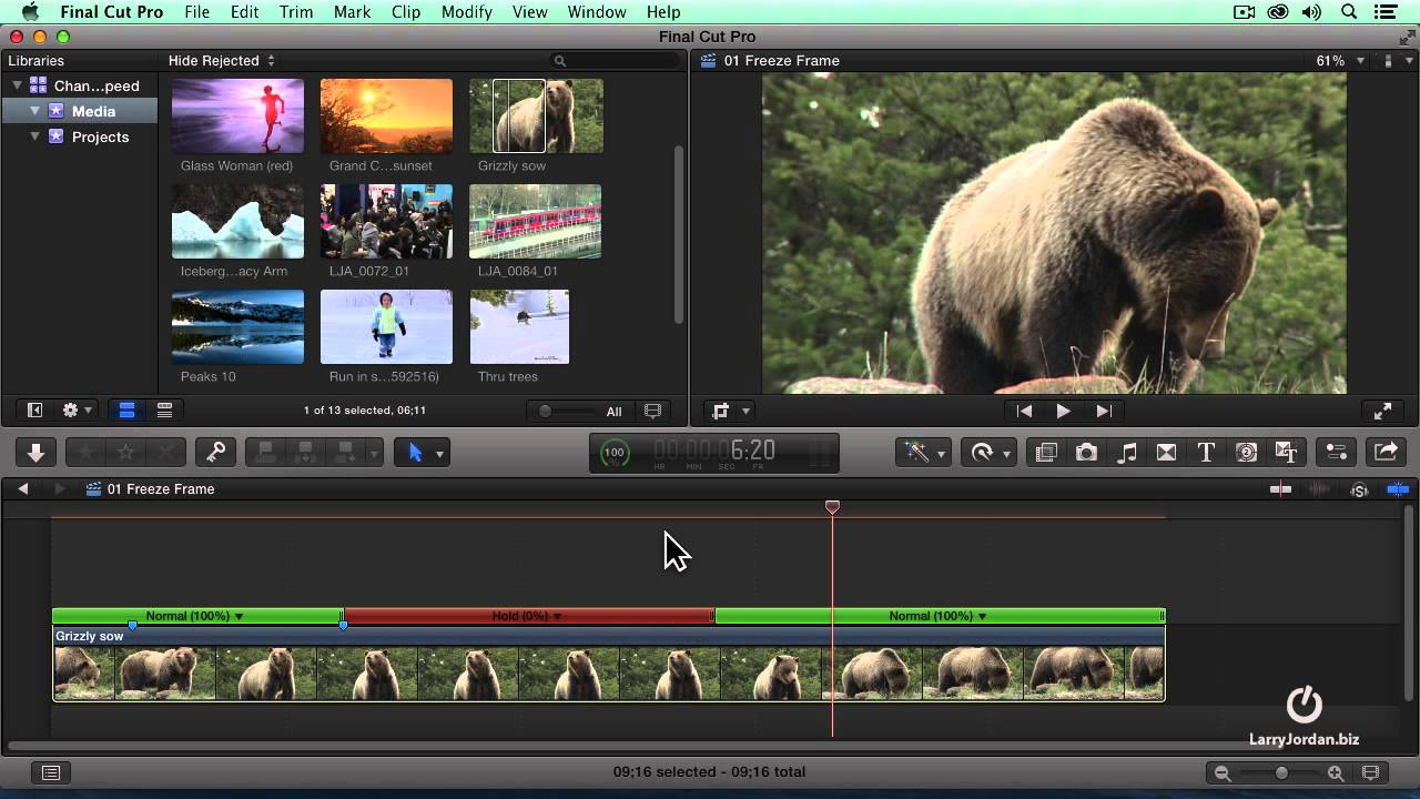 Creating A Hold Frame in Final Cut Pro X - YouTube