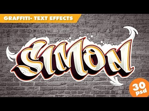 Graffiti Text Effects By Sko4 - How To Use