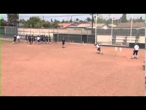 See How Mike Stith Instructs Players To Approach First Base!