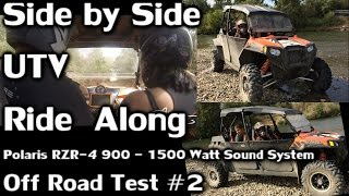 utv ride along off road test 2 feather river 1500 watt polaris rzr 4 900 sound system