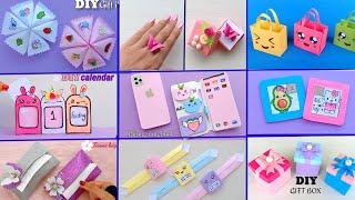 9 EASY CRAFT IDEAS || School Craft Idea || DIY Origami Craft || School hacks || Paper mini gift idea