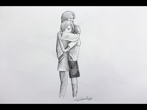 how-to-draw-boy-and-girl-hugging-moment