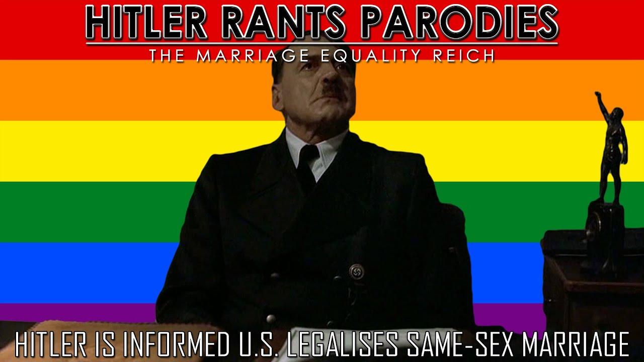 Hitler is informed U.S. legalises same-sex marriage