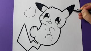 How to Draw Cute Baby Pikachu