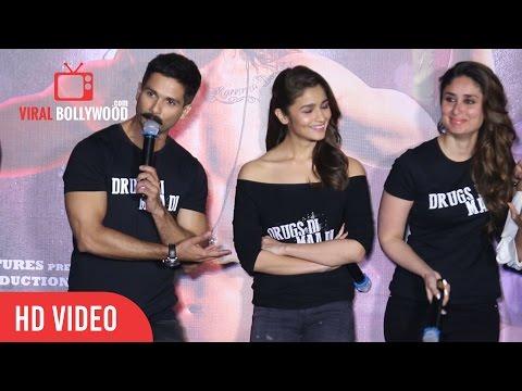 Jab Shahid Kapoor Met Kareena Kapoor At Udta Punjab trailer launch