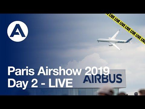 Paris Airshow 2019: Day 2 - LIVE
