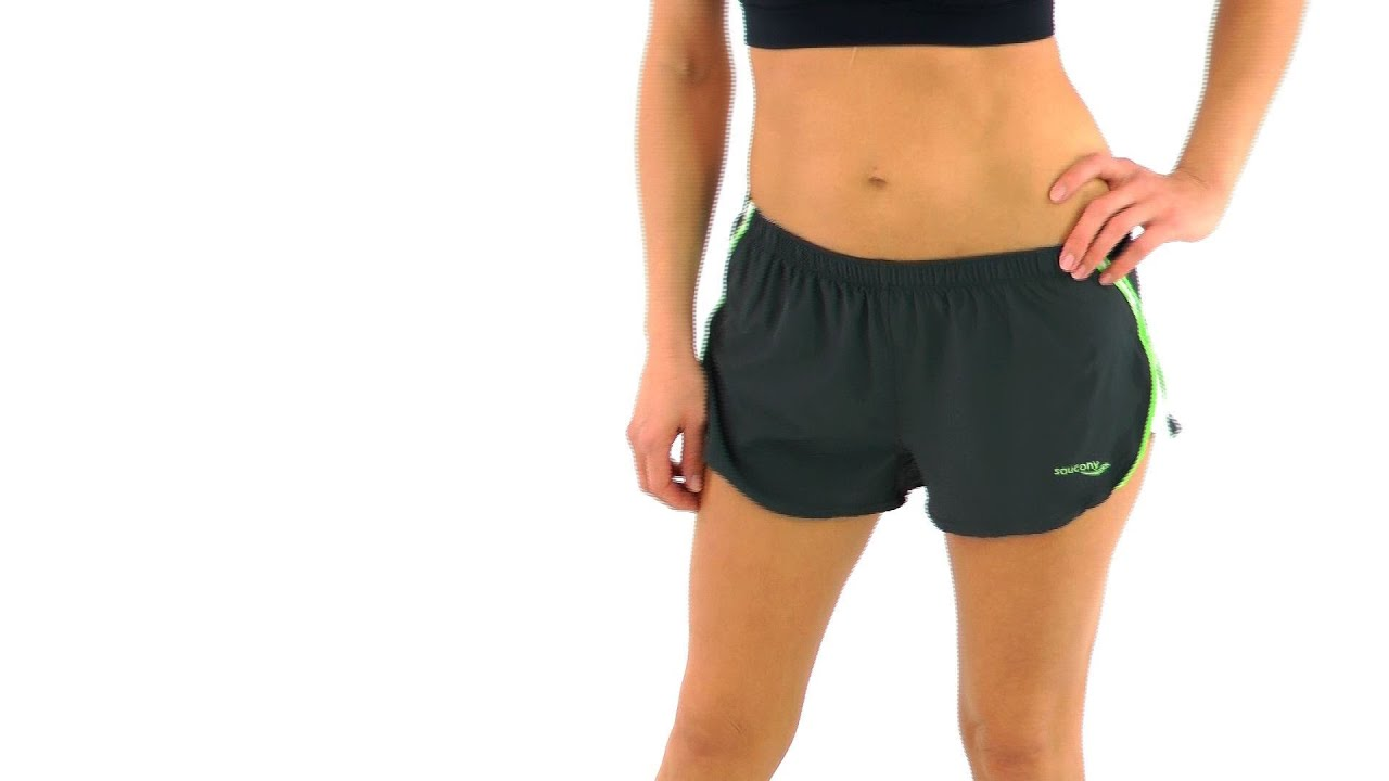 Nike womens running shorts with liner - Saucony Women S Ignite 2 5 Split Running Shorts Swimoutlet Com Youtube