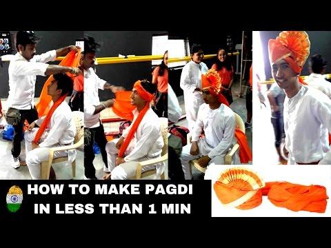 How to make PAGDI in less than 1 minute | How to make marathi Pheta | Amazing Skill