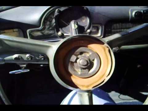 1951 1952 Oldsmobile Deluxe Steering Wheel Emblem Removal  YouTube