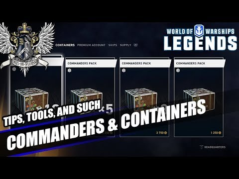 wows legends commanders containers