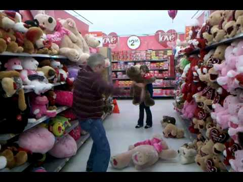 Wrestling Moves On A Valentine Bear In Walmart YouTube