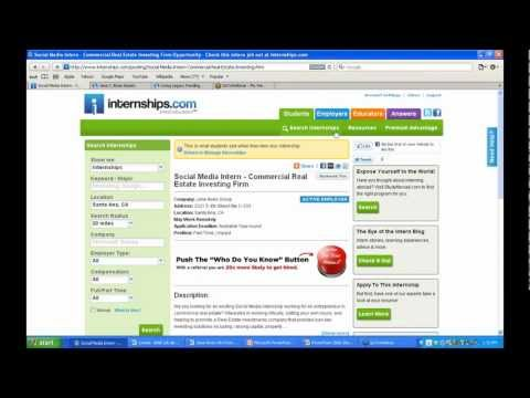 How To Submit An Internship Job Post On Internships.com.  A Training Video From Intern Profits