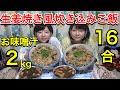 【大食い】生姜焼き風炊き込みご飯16合!【双子】