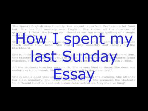 essay on how i spent my