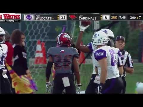 Abilene Christian Highlights from ACU @ UIW Sept. 30th, 2017